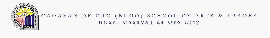 CAGAYAN DE ORO (BUGO) SCHOOL OF ARTS & TRADES Logo